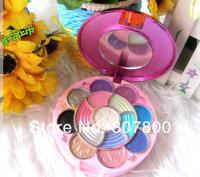 2013 New Arrival Fashion Girl Makeup set 15 colors Eyeshadow+2 color  blush+ 1 colors powdwe+4 colors lip gloss