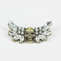 Lead and Nickel Free Wholesale New Products for 2013 Brooch Pins Flying Skull Design Items No. P00122. Free Shipping!!!