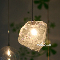Ice pendant light pendant light brief bedroom lights bar lamp restaurant lamp 1084