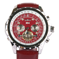 New! Men's Elegant Man Auto Mechanical Date Tourbillon Mens Wrist Watch