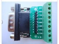 DB9 DR9 adapter plate 232 turn serial port terminal transfer 2.54 row needles KF396 terminals