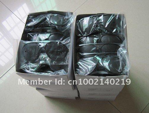 New Arrival Vision Spectacles Astigmatism Eyesight Improve Eyes Care Pinhole Glasses Eyewear Black HK Post Free Shipping 30 pcs(China (Mainland))