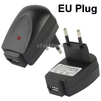 EU Plug USB Charger USB Power Adapter  5V 500MA