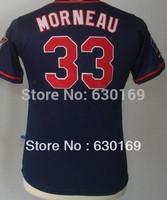 #33 Justin Morneau Youth  Baseball Jersey, Cheap kids Sports Jersey,Embroideried  logos,Mix order,Free shipping fee