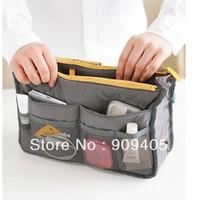 DHL Free shipping,Insert Purse Cosmetic Storage Organizer Bag Handbag Makeup Tidy Travel ,Collection Organizer 9colors