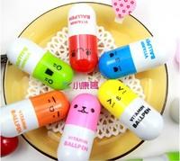 Hot sale 10pcs/lot, Ballpoint pen, vitamin pill, novelty pen, size12x2.4cm, gift pen,multicolor, free Shipping
