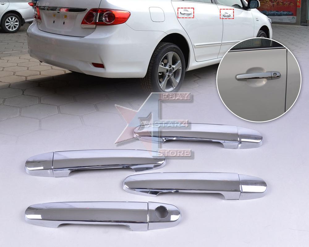 Free shipping & Tracking # New Chrome Door Handle Cover Trim for Toyota Camry Yaris Corolla RAV4 Matrix Solara Prius  - CA01163(China (Mainland))
