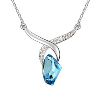 Fashion austrian crystal necklace nourishments - - pendant short design chain women's accessories