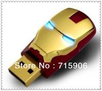 2piece/lot Fashion Avengers Iron Man LED Flash USB Flash 2.0 Memory Drive Stick Pen/Thumb free shipping