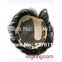 Wigking 100% human hair toupee