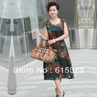 women's one-piece dress fashion sleeve length plus size skirt summer dress