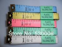 Wholesale 50pcs/Lot Plastic Flexible Rule/Professional Tailoring Line Tape/Band Tape Measure Sewing 45cun/150cm Measuring Reel