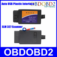Whole Sale ELM USB Plastic Interface Auto OBD/OBDII CAN-BUS Diagnostic ELM327 V1.5a ELM 327 Scanner CNP Free