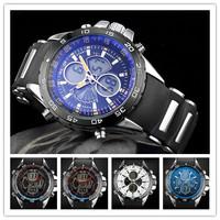 WEIDE Fashion  Mens Army Rubber LCD Quartz Wrist Watch Dive Watches Free Ship