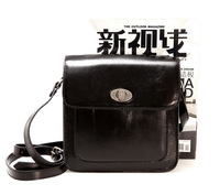 Spring and summer vintage women's handbag quality oil small cowhide bag one shoulder cross-body women's handbag