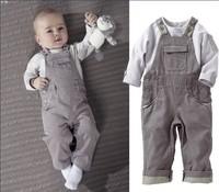 Retail 1pcs free shipping! 2013 baby boy sets 2pcs( t-shirt+ Suspenders pants) kids clothes suits children fashion 2 sets