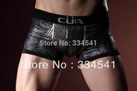 Free Shipping Silver serpentine ice silk mid waist Men's Underwear Boxers size M/L/XL/XXL/XXXL