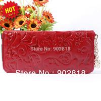 Free Shipping 2013 New Fashion Vintage Women Genuine Leather Handbag Purses Medium-Long  zipper Wallet