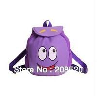 J1 free shipping dora the explorer backpack DORA purple plush backpack school bag for toddler kindergarten