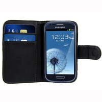 For Samsung Galaxy S3 Mini i8190 Case Flip Wallet Leather Card Hard Case Cover Pouch Free Ship 1pc