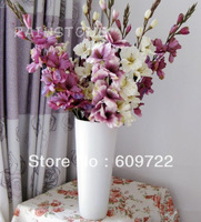 2013  New Autumn High Simulation Big 10 Heads Artificial Flower Sword Lily 78cm 16pcs Floral Arrangement FL710-2