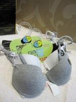 Underwear bra solid color glossy thin cup cotton bra