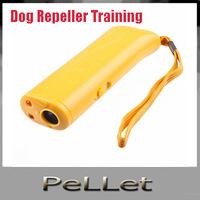 Free DHLWholesale New Ultrasonic Pet Dog Repeller Training Device Trainer+ LED light 3 in 1 ,100 pcs/lot