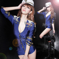 Ds costume fashion navy coverall jazz dance