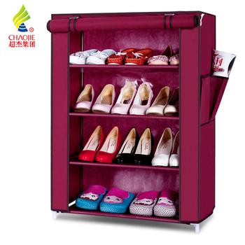 Chaojie cloth cover shoe hanger simple combination shoe hanger steelframe shoe xiejia