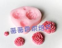 Rose resin mould silica gel sugar cake tools diy clay polymer clay handmade soap mould