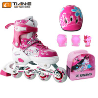 Skating shoes child set flash roller shoes child adjustable roller skates in-line skate shoes