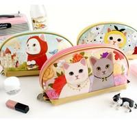 free shipping Jetoy cartoon cat cosmetic bag storage bag