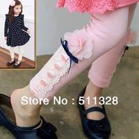 FREE SHIPPING girls' leggings children pants leggins princess leggings autumn 2014 kids trousers stripe legging wholesale