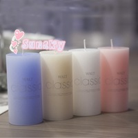 Free shipping 5*7.5 cm Classic column wax Perfume fragrance Rommantic wedding candles Birthday Valentine's day Candles