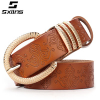 EMS free shipping Sxllns strap Women women's genuine leather belt all-match fashion pin buckle