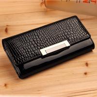 2013 Medium-large  women's vintage genuine leather wallets female long design wallet clutch large capacity mobile phone bag