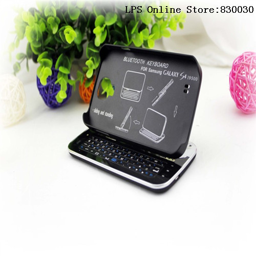 3pcs/lot Free Shipping 2013! New arrival Sliding Bluetooth Wireless Keyboard case Cover For samsung galaxy s4 flip cases(China (Mainland))