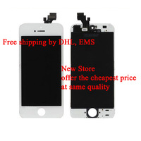 10pcs/lot Original LCD with Touch Screen Digitizer Assembly for Iphone5 Iphone 5 White