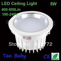 ceiling light 5*1W Epistar chip white color 100-240V AC 450-500lm energy saving commercial light free shipping