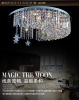 Dia.90cm+LED Crystal Ceiling Lighting Round den luxury bedroom lamp living room lamp Star, Moon Light
