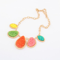 (Min order 10usd), Fashion vintage candy Water drop pendant collar necklace for women