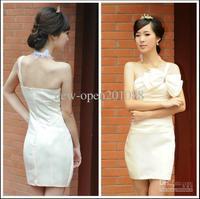 Custom 2013 One - shoulder bowknot wipes bosom Taffeta Homecoming Dresses Graduation Dresses