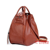 2013 spring and summer all-match tassel backpack women's one shoulder backpack fashionable casual with three women's handbag