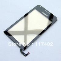 New Black replacement Digitizer touch screen glass lens for Philips V816 Free shipping