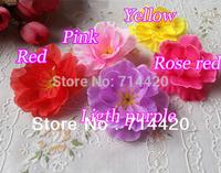 100pcs/lot 1.6'' Artificial flowers simulation silk plum blossom flower heads for Patty  Wedding Home Flowers