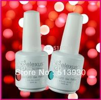 Free Shipping! 252 Classic Colors Available Soak-Off UV/LED Nail Gel Polish 7Pcs (5bottles color gel+1 base gel+1 top coat)