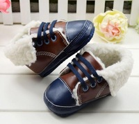 Free shipping 2013 new year Winter soft outsole toddler shoes baby cotton-padded shoes baby snow boots size11cm-13cm