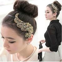 Colorful bead hair bands peacock headband hair clip Korean style for women free shipping 072