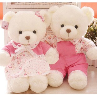 Wedding doll wedding bear lovers wedding bear filmsize marriage doll gift tang suit a pair of(China (Mainland))