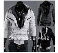 2013 fashion, cultivate one's morality even cap unlined upper garment, men's hoodies, men's coats Free Shipping.025